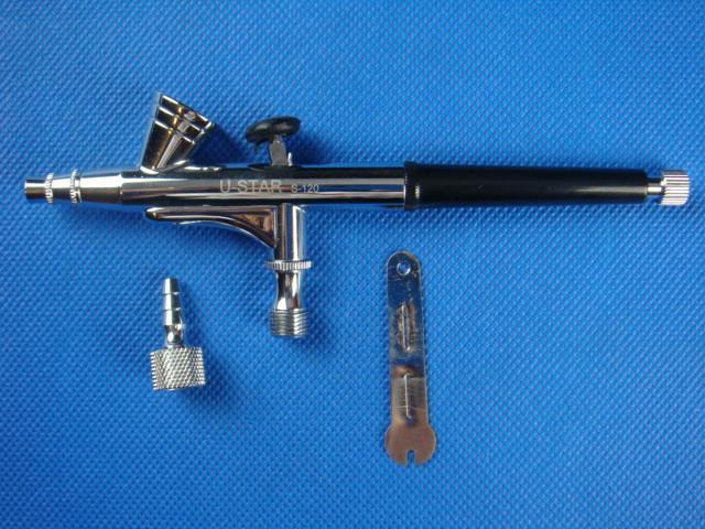 цена на U-STAR S-120 7CC Fluid Cup 15-30 PSI Airbrush Set Double-action Trigger Air-paint Control 0.2mm