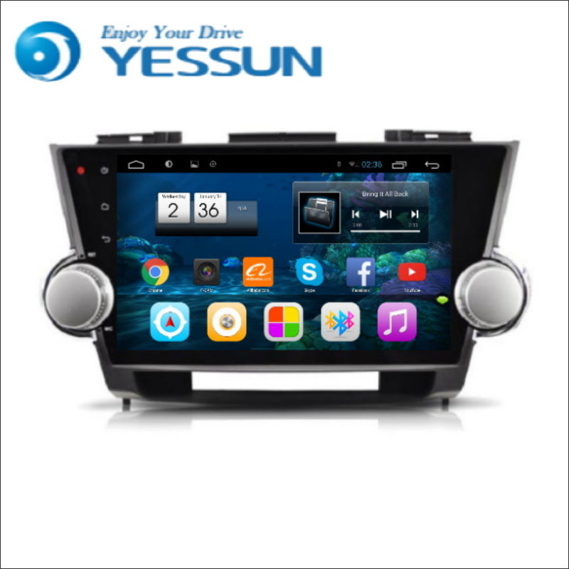 YESSUN For Toyota Highlander Kluger Android Car Navigation GPS HD Touch Screen Stereo Player Multimedia Audio Video Radio Navi image