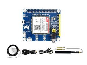 Image 3 - Waveshare 4G/3G/2G/GSM/GPRS/GNSS HAT ahududu Pi sıfır /sıfır W/sıfır WH/2B/3B/3B +, tabanlı SIM7600E H, destek dial up