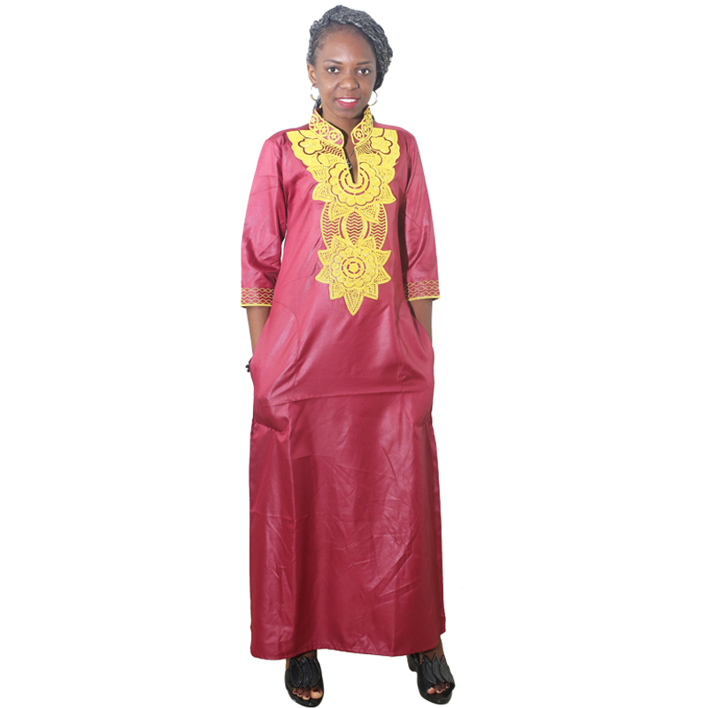 MD African Dress For Women Embroidery Flower Maxi Dresses Traditional African Clothes Lady Party Long Dresses 2020 Summer Dress