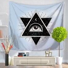 CAMMITEVER Geometria Crânio Olhos Venda Quente Indiano Mandala Tapeçaria Tapeçaria Tapeçaria Tapeçarias Hippie Boho Colcha Novo Em
