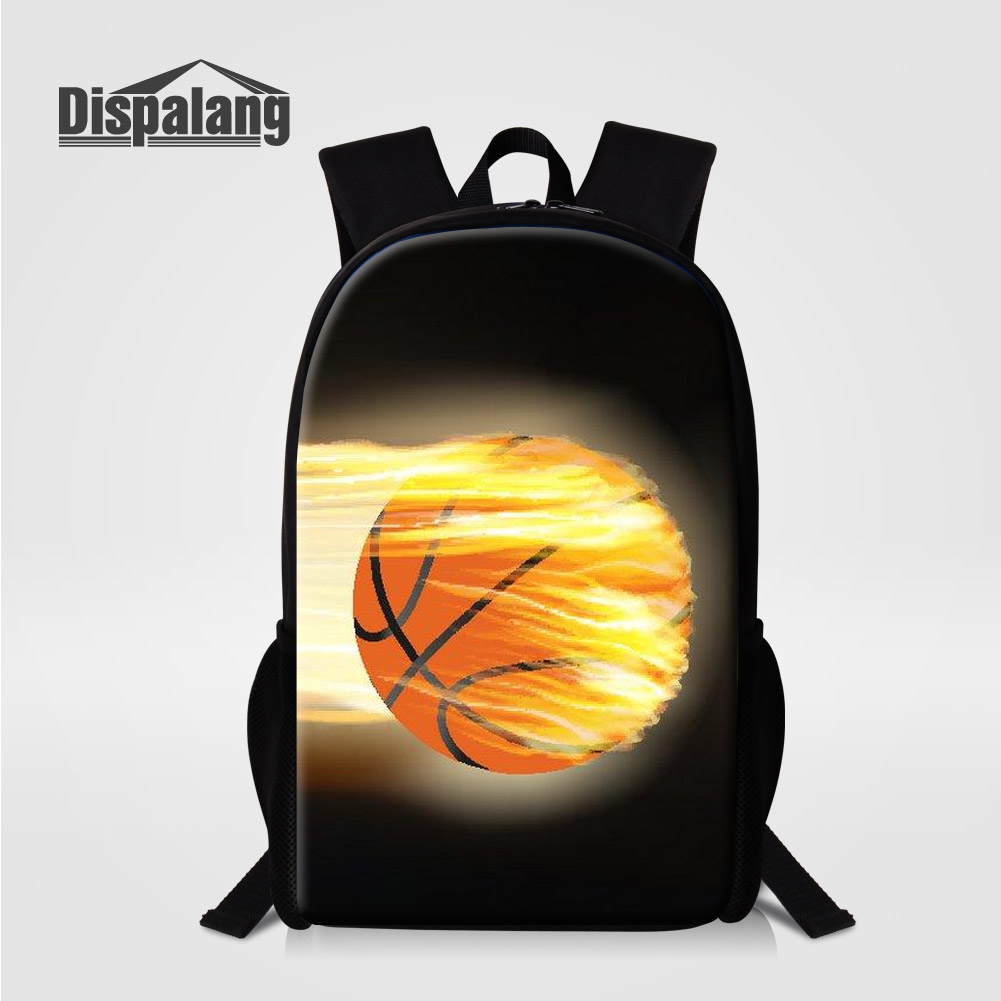 Dispalang 16 Inch Middle High School Bags For Teenage Boys Cool Basketballs Printed Backpack Male Mochila Sac A Dos Mens Bagpack