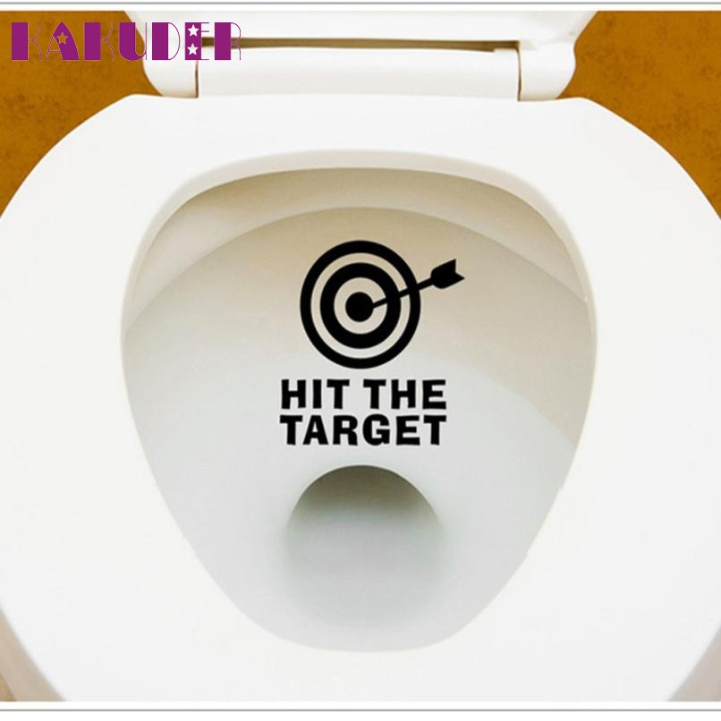 Characters DIY Toilet Sticker Waterproof Arrow and Target Toilet Seat Bathroom Sticker Home Refrigerator Wall Decal Art JAN26