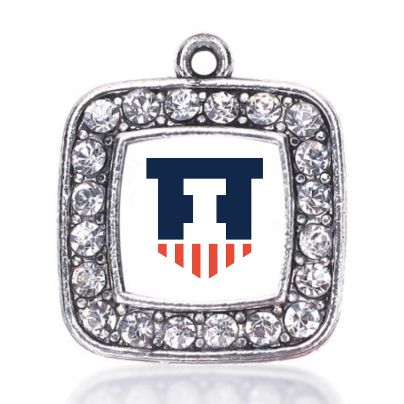 Illinois Fighting Illini CHARM ANTIQUE SILVER PLATED JEWELRY