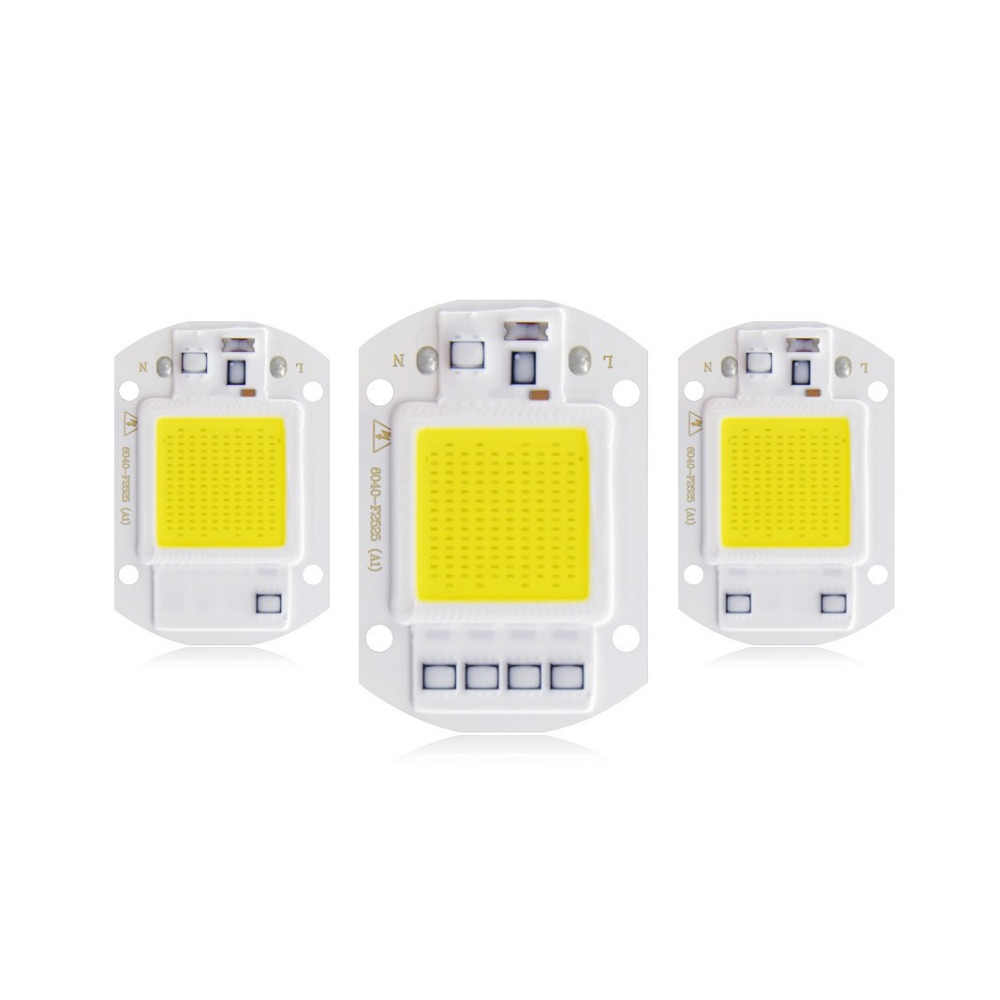 High Quality COB LED Chip 20W 30W 50W AC 220V No Need Driver Smart IC DIY LED Floodlight Spotlight White/ Warm White
