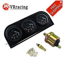 Envío Gratis, Kit Triple Electrial de 52mm (voltímetro + medidor de temperatura de aceite + medidor de presión de aceite), Sensor de temperatura, indicador automático para coche