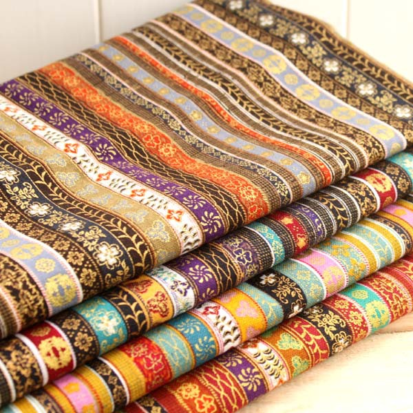 Ethnic vintage apparel sewing print material fabrics for for Apparel fabric