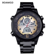 BOAMIGO digital watch mens watches top brand luxury sport fitness 5Bar Waterproof led Back Light wristwatch Reloj de hombre new