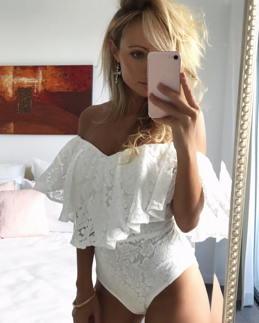 2018 Body Fitness White Lace Bodysuit Sexy Rompers Women Jumpsuit Sleeveless Transparent ...