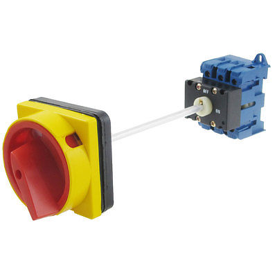 цена на AC 240V 440V ON/OFF 2 Position 35mm DIN Rail Rotary Cam Changeover Switch SZD11-25