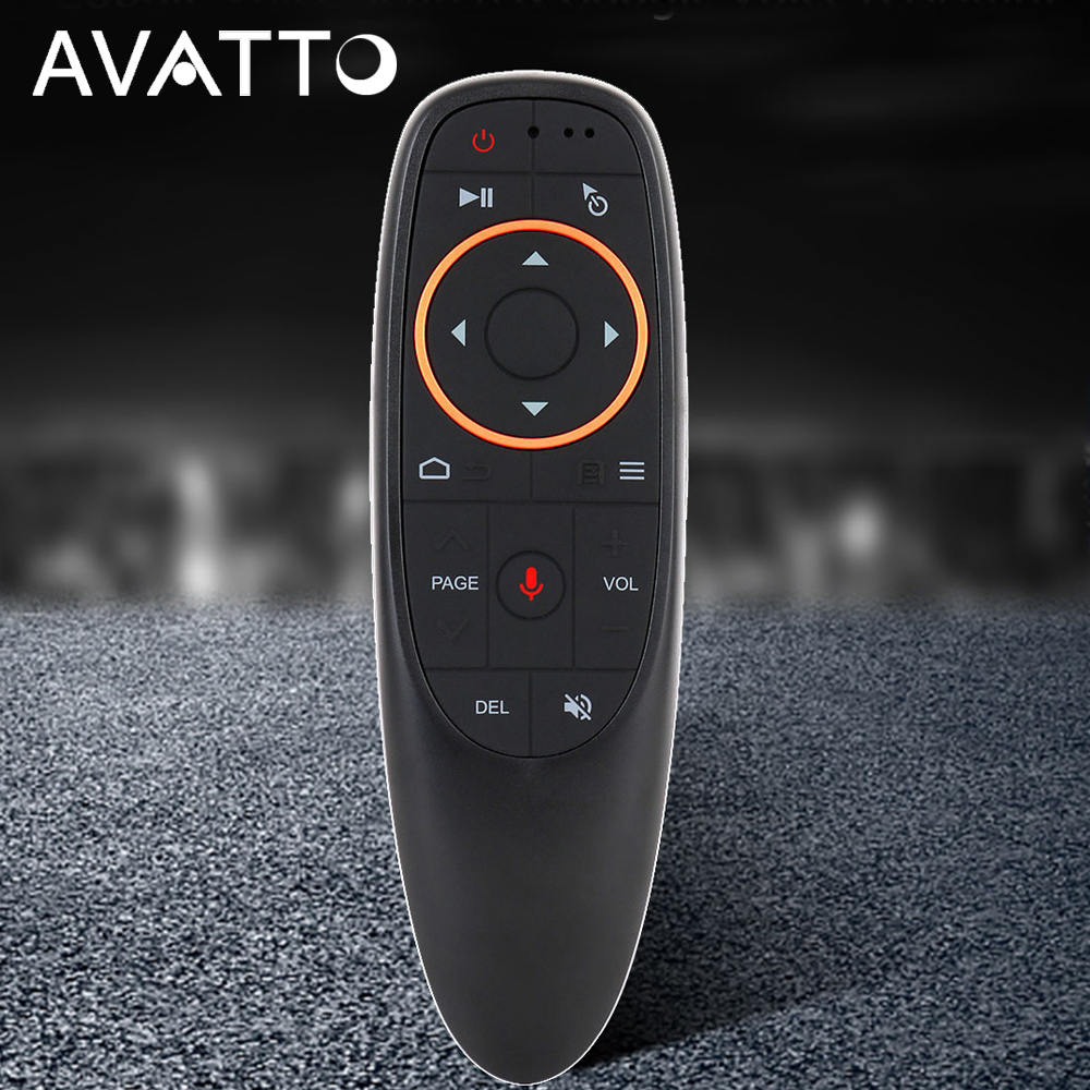 AVATTO G10 Gyro Sensing Fly Air Maus Mit Voice Control 2,4 ghz Drahtlose Mikrofon Fernbedienung Für Smart TV, android Box PC