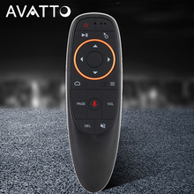 AVATTO G10 Gyro Sensing Fly Air Mouse With Voice Control 2.4GHz Wireless Microphone Remote Control For Smart TV,Android Box PC