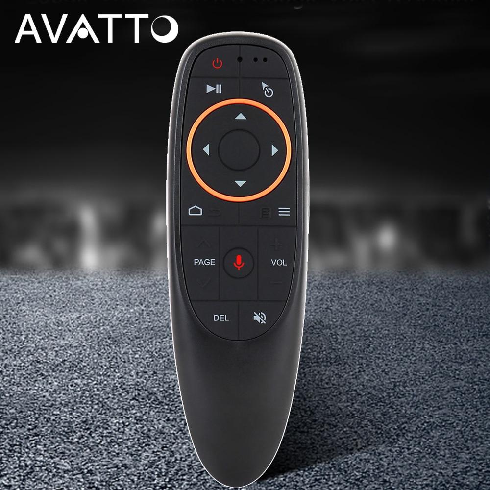 AVATTO G10 Gyro Sensing Fly Air ratón con Control de voz 2,4 GHz MICRÓFONO INALÁMBRICO Control remoto para Smart TV, caja androide PC