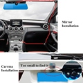 New 4.3 Inch Vehicle Traveling Data HD Recorder Rear View Mirror Camera Dual Lens 1080P