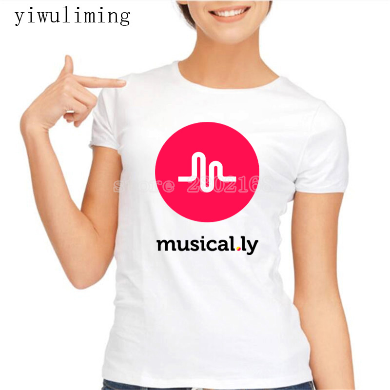yiwuliming Women T-Shirt Short Print Letter Tops Tees
