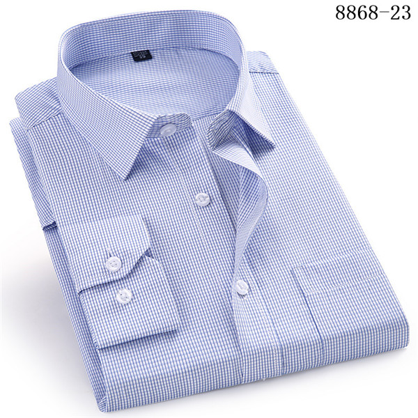 4XL 5XL 6XL 7XL 8XL Large Size Men's Business Casual Long Sleeved Shirt White Blue Black Smart Male Social Dress Shirt Plus 7