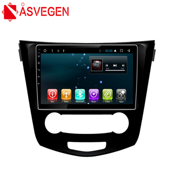 Asvegen Car Radio Multimedia Player For Nissan Qashqai 2014 2015 2016 2017 10.2 inch Android 6.0 4G WIFI Stereo GPS Navigation image