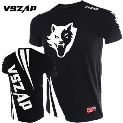 VSZAP  CHANLLENGER Short Sleeved Boxing Jerseys For Men's MMA Muay Thai Breathable