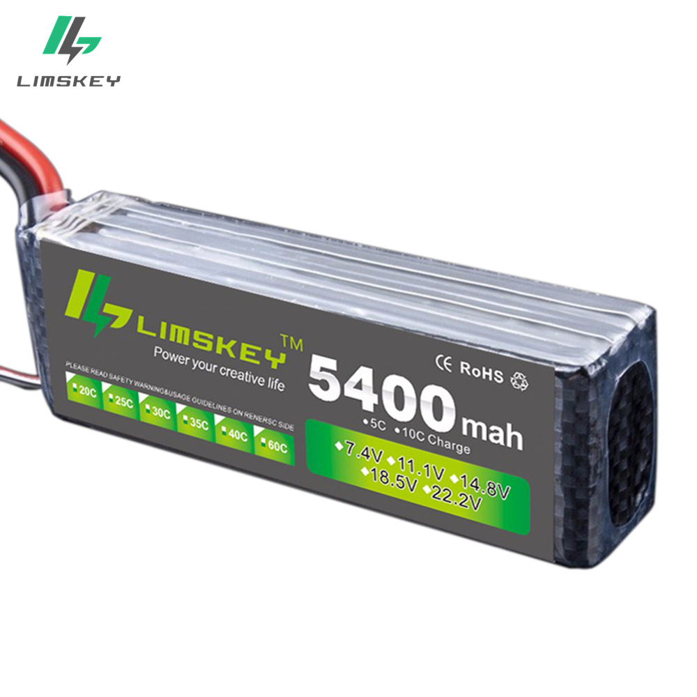 3 S Lipo Batterie 11.1 V 5400 MAH 30C MAX 35C AKKU LiPo Batterie pour RC Hélicoptère Bateau 3 S Lipo 11.1 v 5200 mah batterie
