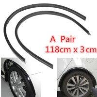 118cm 2 Universal Car Wheel Eyebrow Decoration Strip Fiber Automotive Tire Eyebrows Protective Stickers Car Exterior