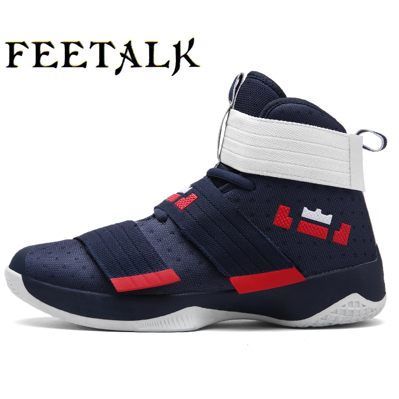 Feetalk Mens Womens Basketball Shoes Sneaker PU Breathable outdoor Athletic Sport boots Sneakers For Male Basketball Shoes ...