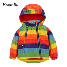 2017 Rainbow Children Jackets Spring Autumn Windbreaker Kids Coats Baby Girls Boy Clothing Polar Fleece For 1-6T Boys Jacket X23