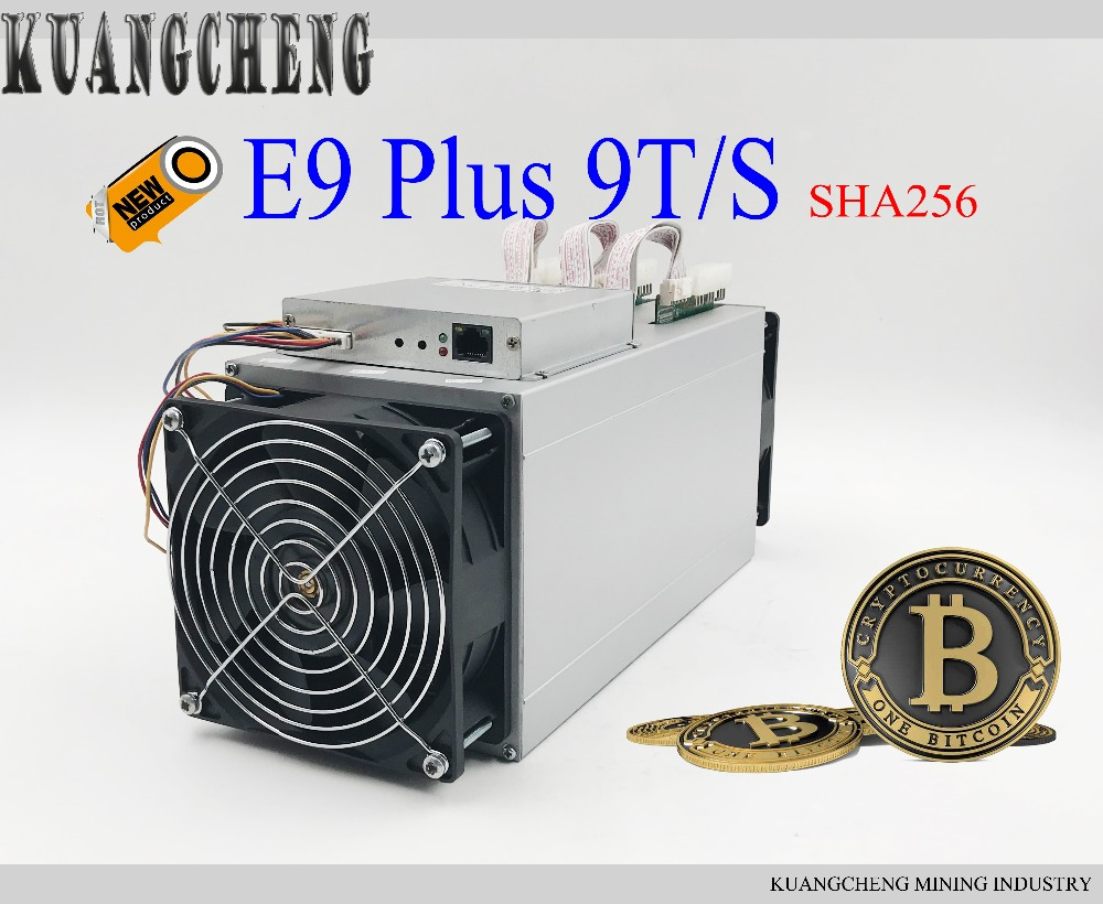 KUANGCEHNG vender Ebit E9 Plus 9 T 14nm itcoin Miner better than Antminer V9, d3 e alto Custo effectiv-do que S9