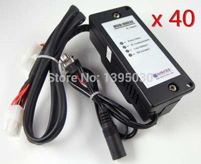 40PCS/Lot New MDB-RS232 Bill Acceptor Validator Adapter With English Manual free shipping 20pcs lot mdb bill acceptor interface to computer