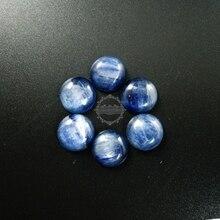 14mm bleu kyanite rond cabochon spécial résultats de bijoux fournitures pour bague, boucles doreilles 4110121