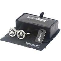 MeMolissa boîte d'affichage boutons De Manchette classique argent voiture volant Bouton De Manchette pour hommes Bouton De Manchette étiquette gratuite et lingette