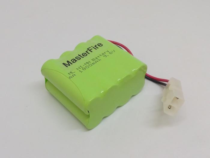 MasterFire 5 pacote/lote New AA 9.6V 1800mAh Ni-Mh Bateria Recarregável NiMH Baterias Pack com o plug