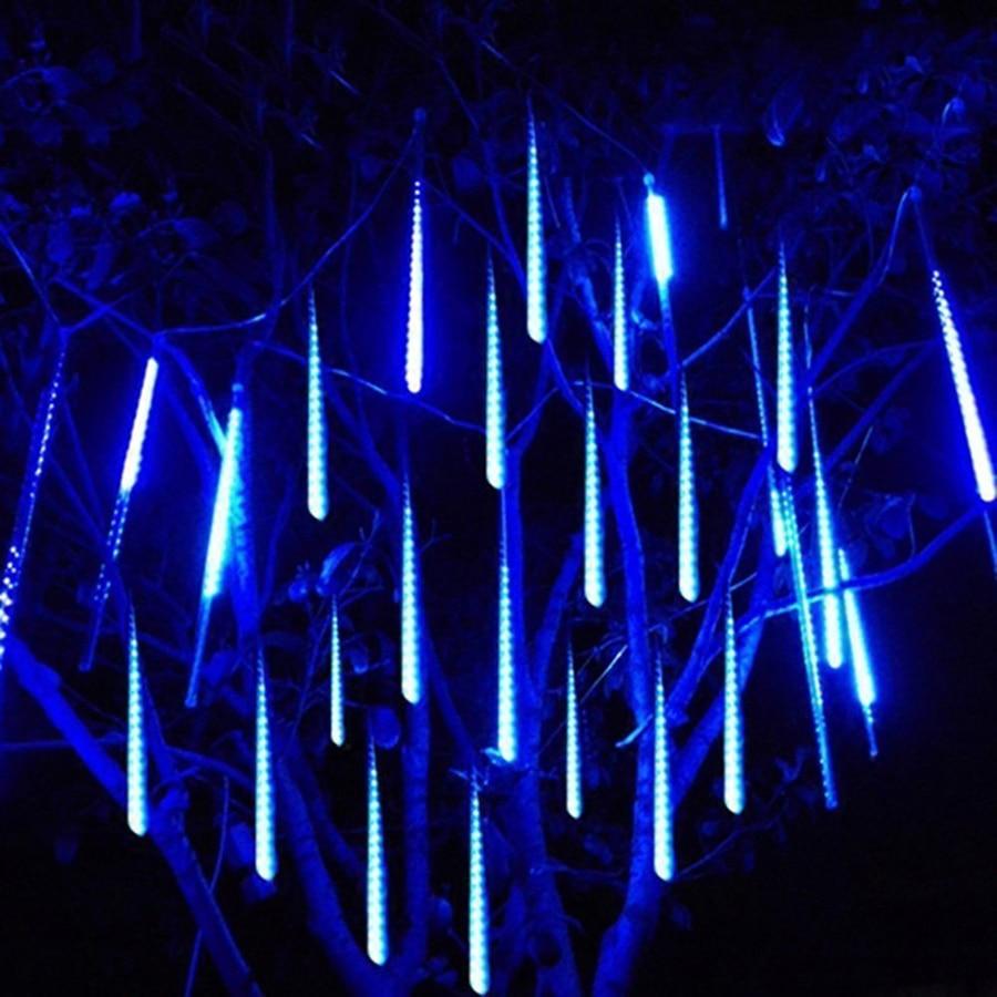 Waterproof 50CM 8 Tube Meteor Shower Rain LED String Light Outdoor Garden Christmas Party Snow Falling Icicle Cascading light club led meteor shower light dmx led vertical pixel tube dc24v waterproof