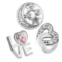 Love Starry Heart Petites Fit Pandora Floating Locket Necklaces For Women Sterling Silver Jewelry Fashion Valentine