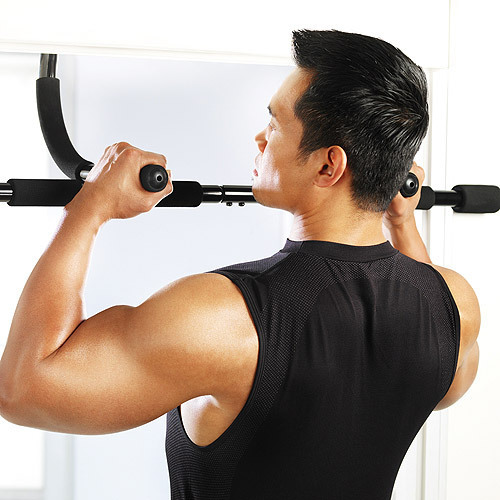 New Black Body Fitness Exercise Home Gym Gymnastics Workout Trainning Door  Pull Up Bar Push Portable