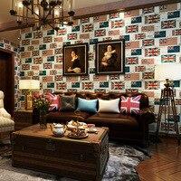 英国のファッション風復元古代の方法旗高-グレード壁紙ベッドルーム、リビングルームテレビ設定環境保