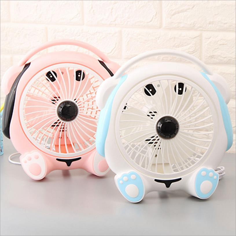 Cute Dog Blue Pink Ventilateur Desk Fan For Home Office Abs Electric Desktop Computer 220 240v Ar Condicionado In Fans From Liances On