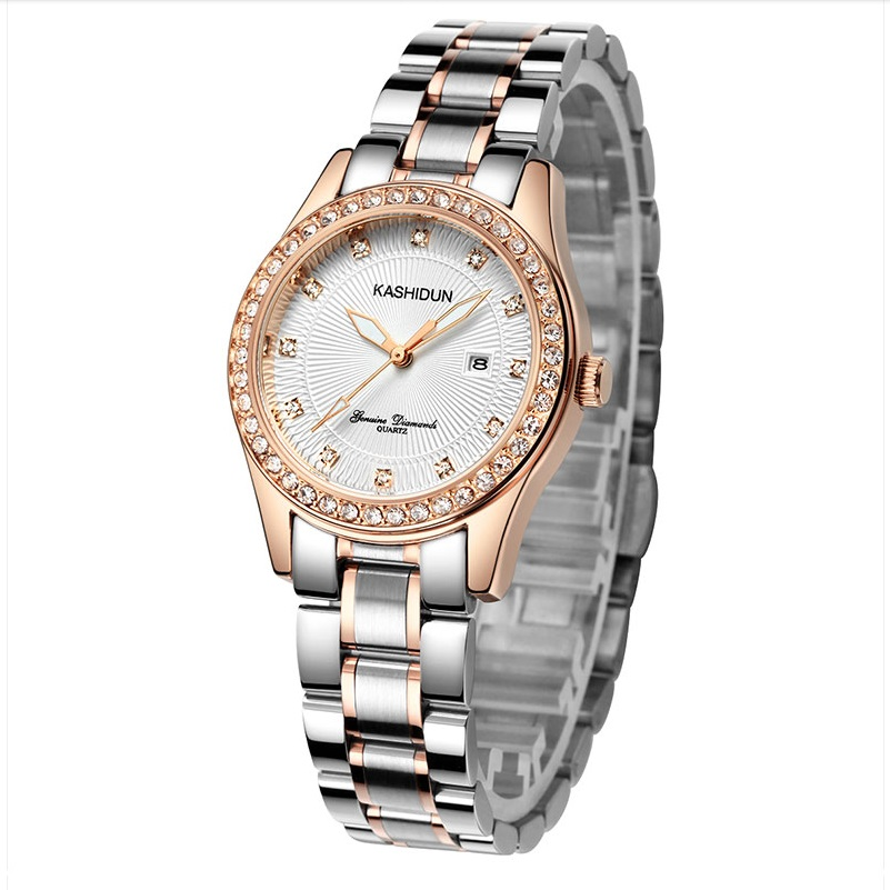 Brand Women Quartz Watch Ladies Dress Wristwatch Steel Band Elegant Lady Watches Simple New Style Girl Clock Calendar Watches comtex ladies watch spring casual yellow leather women wristwatch for girl new fashion quartz calendar watches reloj clock gift