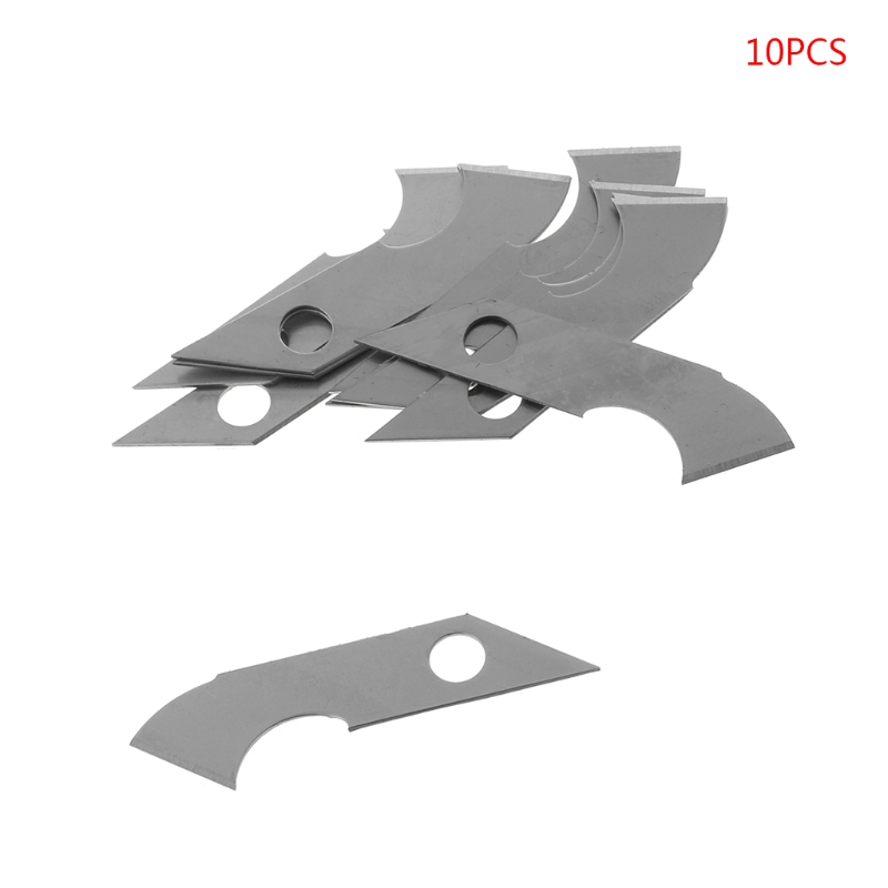 1 Set 10x Sharp Hook Knife Blade For Crafts Cutter Cutting Acrylic Plate Board Sheets High Quality