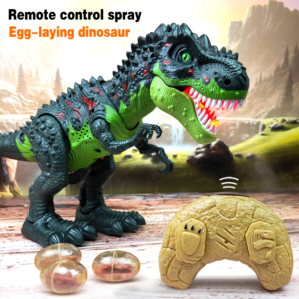 New Large Remote control Electric Walking Dinosaur Toys Kids Walk Animals Model Toys with Light Spray for Children Recognization