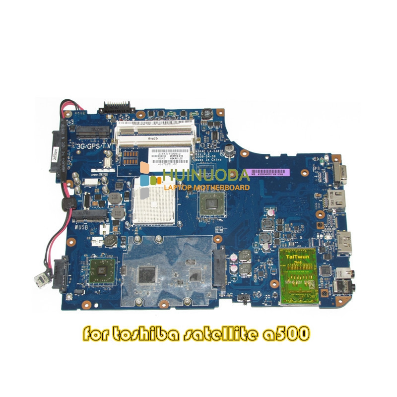 NOKOTION K000040002 NSKAE LA-5381P Mainboard for toshiba satellite A500 laptop motherboard DDR2 k000057370 iskaa la 3481p for toshiba satellite a200 a205 laptop motherboard pm965 ddr2 free shipping 100