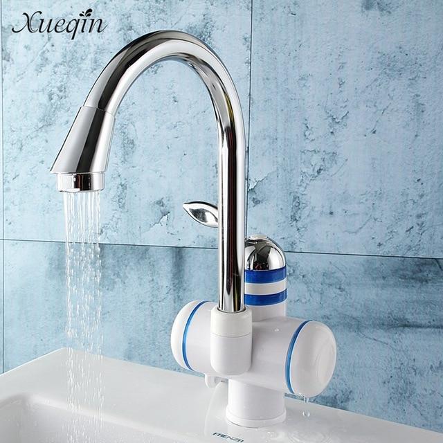 xueqin pont mont instantane chauffe eau chaude eau froide mixer robinet cuisine salle de bain - Robinet Eau Bouillante Instantanee