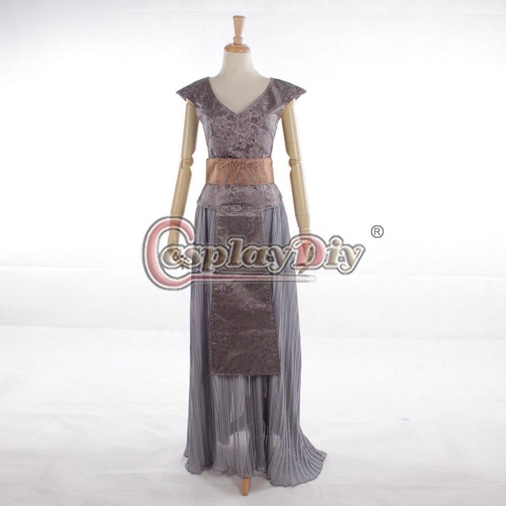 Cosplaydiy  Game Of Thrones Daenerys Targaryen Light Blue And Grey Dress Adult Women Cosplay Costume Custom Made