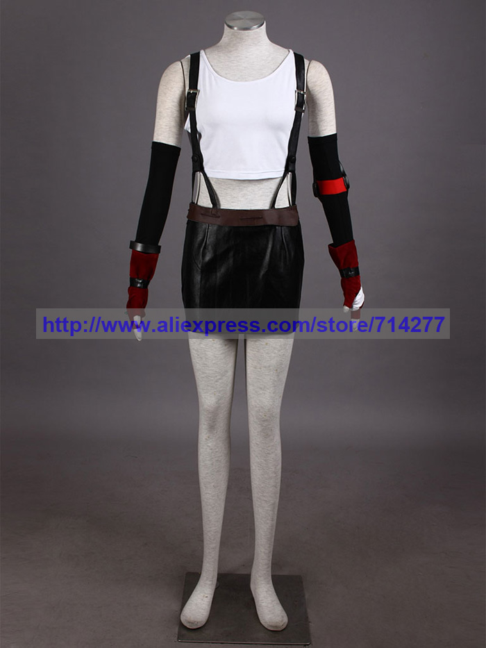 High Quality Final Fantasy VII Tifa 2th Cosplay Costume Halloween Christmas Party Gift