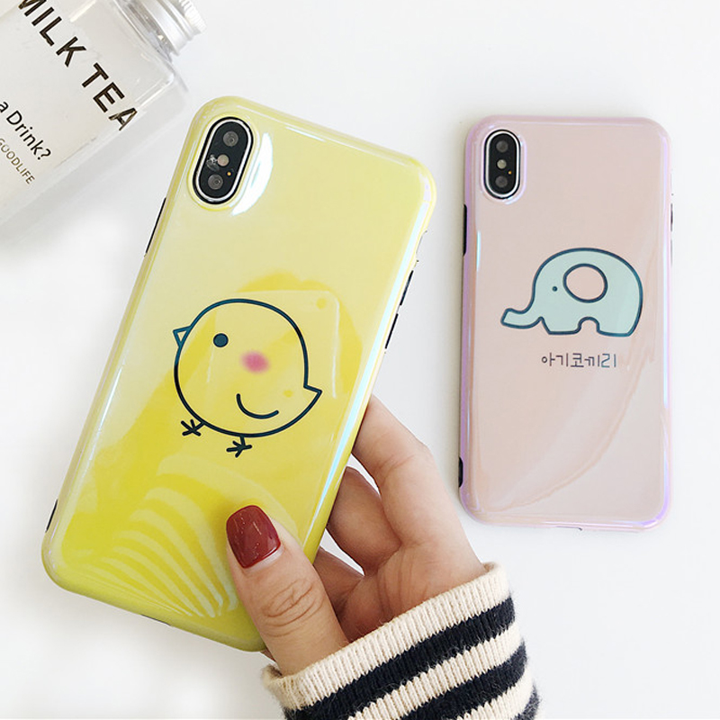 c83ea3214d Blu-Ray Phone Iphone 6 6S 7 8 Plus X Cool Korean Style Chick &Amp; ...