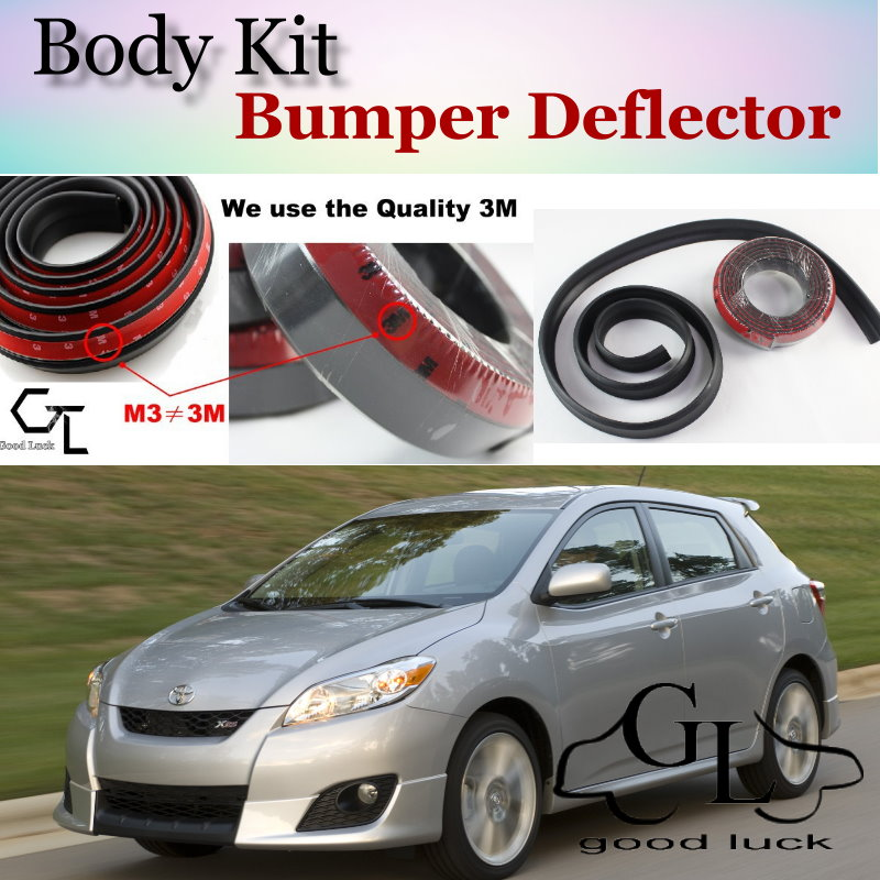 For TOYOTA Matrix For Pontiac Vibe Bumper Lip Lips / Top Gear Shop Front Spoiler For Car Tuning / TOPGEAR Body Kit + Strip Skirt