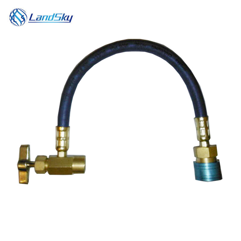 R134A refrigerant synergists filler pipe sealing agent recharge hose  Gas Can Pipe Fittings Opener Thread 1 / 2ACME