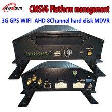 Vehicle fleet center platform management system AHD 3G WIFI GPS hard disk MDVR remote video location monitoring host цена в Москве и Питере