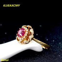 KJJEAXCMY fine jewelry Natural ruby ring 925 silver women's ring is fashionable and elegant.
