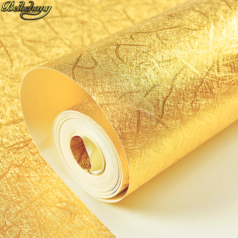 beibehang papel de parede 3D luxury home improvement wall paper roll silver Gold foil wallpaper bedroom living room background