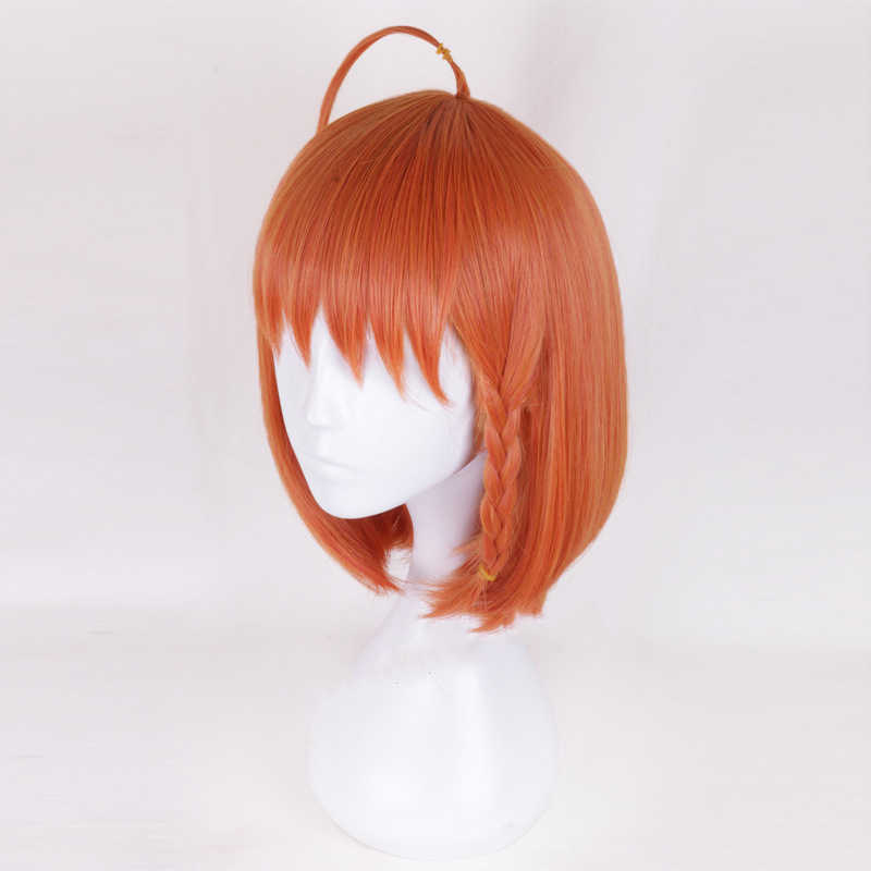 Cinta Hidup Sunshine Takami Chika Wig Cosplay Kostum Aqours Wanita Rambut Sintetis Pesta Halloween Peran Bermain Wig + Wig Topi